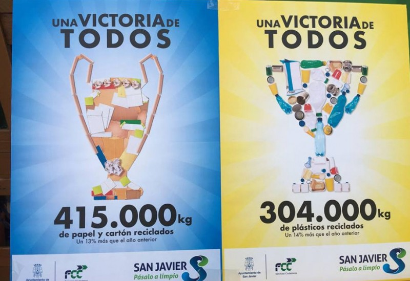 San Javier congratulates residents on increased recycling