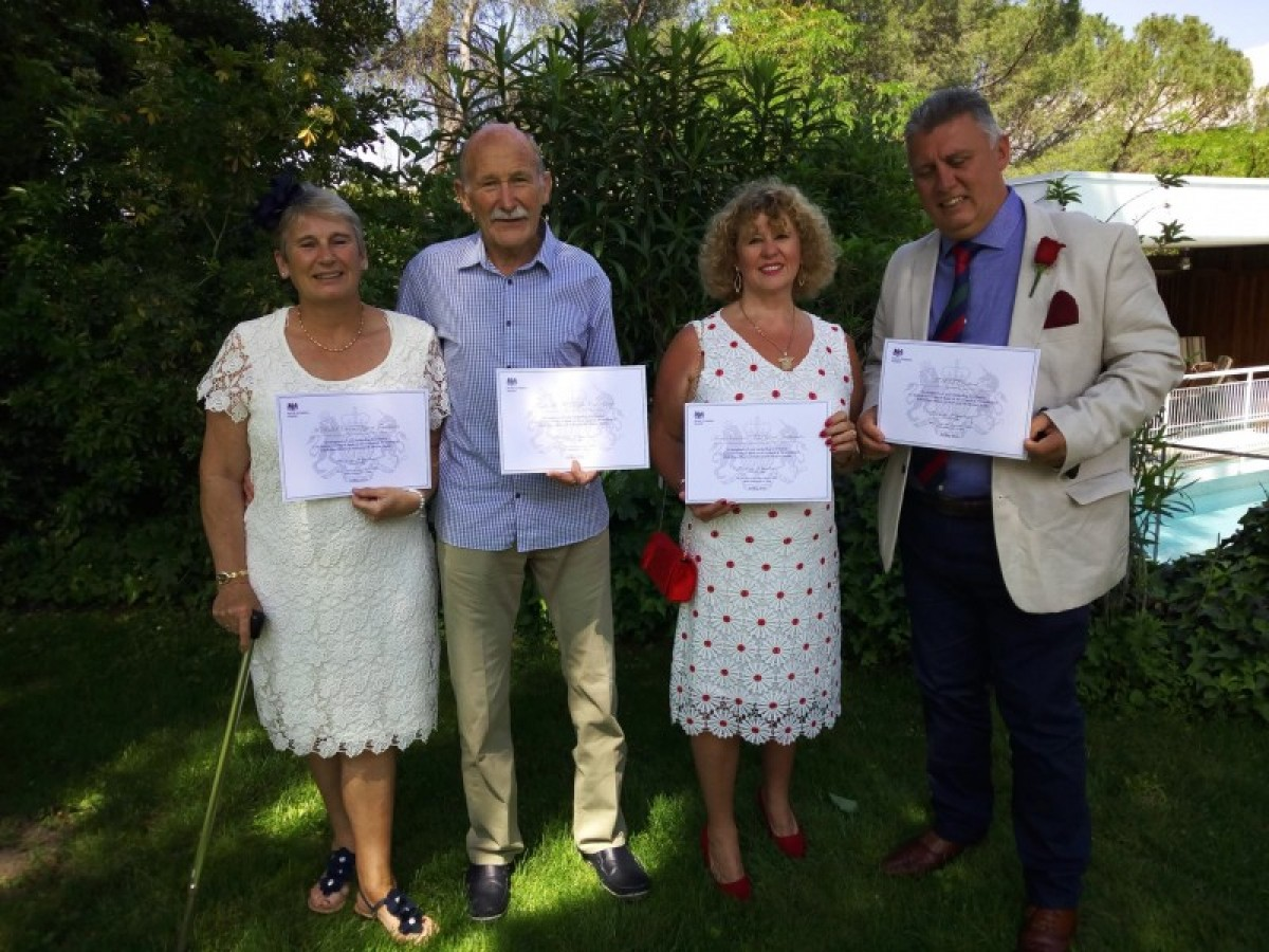 British Embassy honours MABS, Forget Me Not and FAST