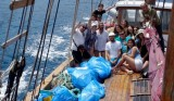 15 sacks of rubbish collected from isolated Cabo Tiñoso beaches