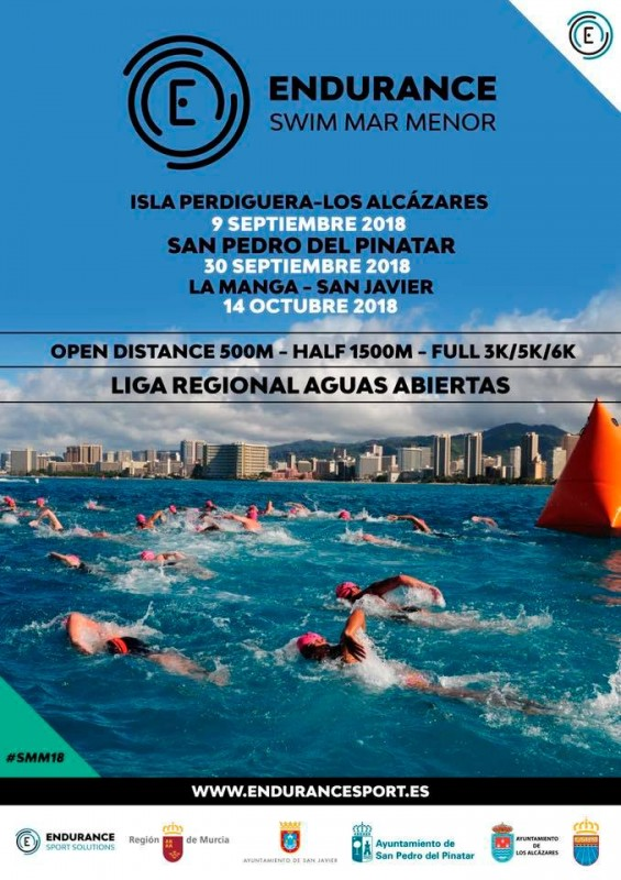 Mar Menor will again host three endurance swimming events this autumn