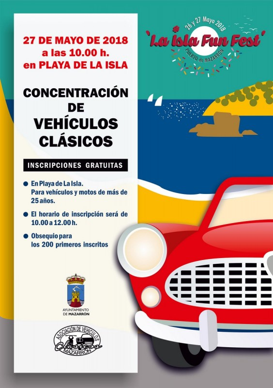 27th May classic vehicle gathering in the Puerto de Mazarrón