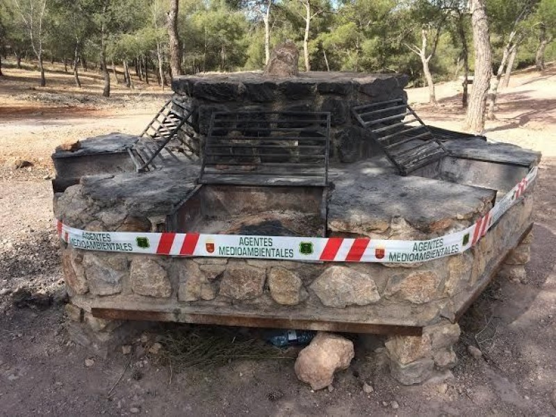 BBQs in the Sierra Espuña close for the summer as heat increases fire risk