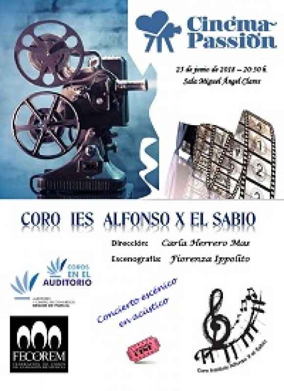 25th June, music from the movies at the Auditorio Víctor Villegas in Murcia