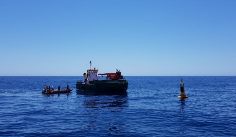 170,000-euro weather buoy in place in the port of Cartagena