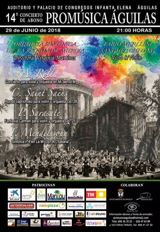 29th June Final concert in the 2018 pro-musica cycle of concerts in Águilas