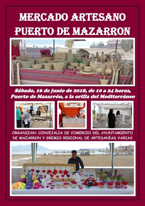 16th June Artisan market in the Puerto de Mazarrón