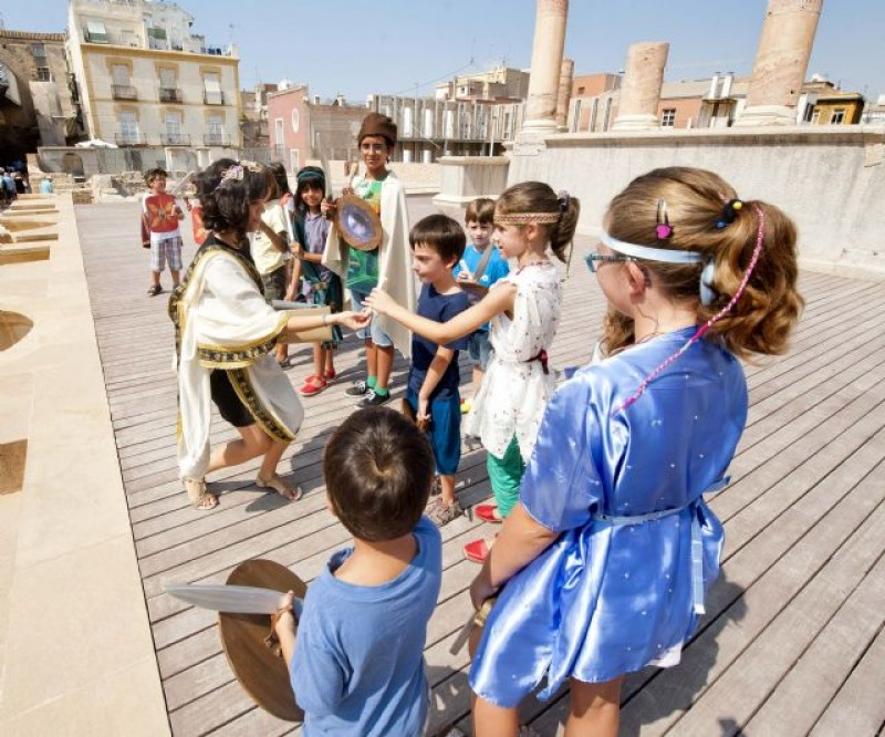 Wednesday evening family theatrical night in the Roman Theatre Museum