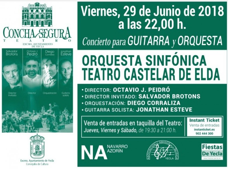 <span style='color:#780948'>ARCHIVED</span> - 29th June Concierto for guitar and orchestra, Yecla