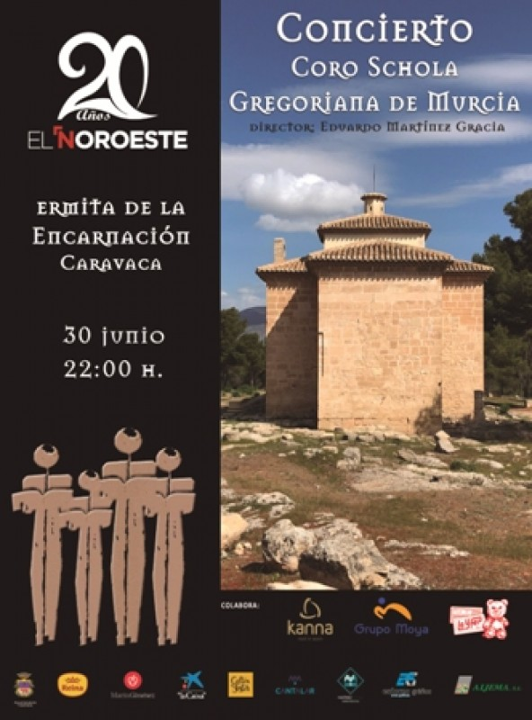 30th June Gregorian chant free concert in Caravaca de la Cruz