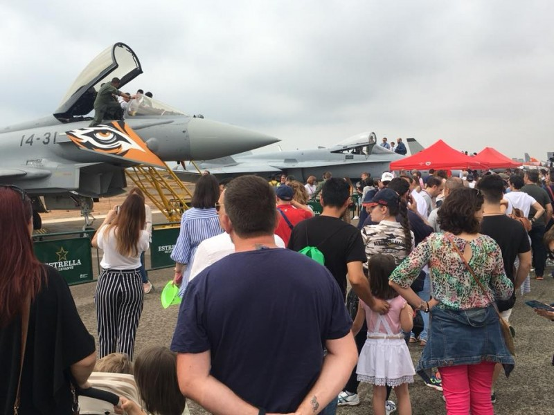 Around 50,000 people enjoyed the open day at San Javier Air Academy