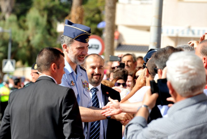 <span style='color:#780948'>ARCHIVED</span> - King Felipe of Spain greets the public at San Javier Airshow