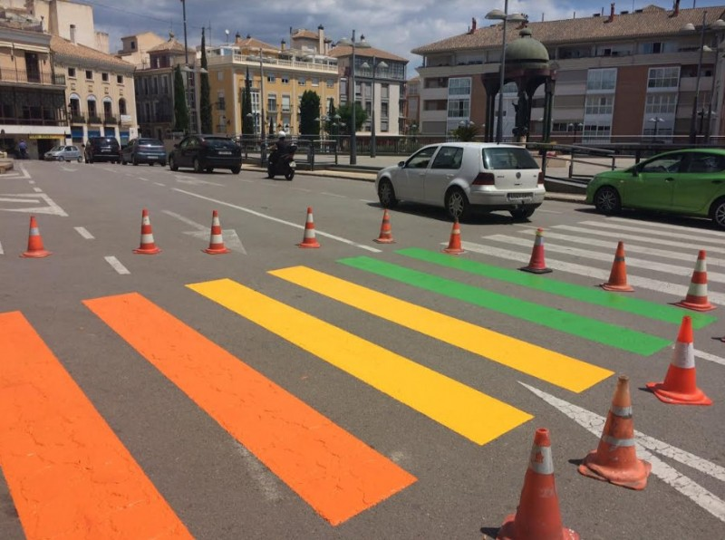 Rainbow zebra crossings in Totana for LGTBi Week