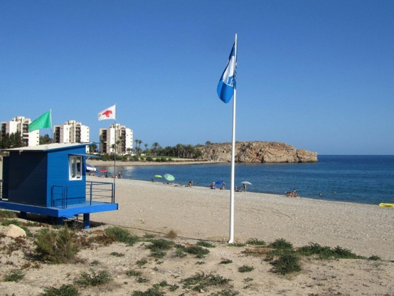 Blue Flag and Q for Quality beaches in the municipality of Mazarrón 2019
