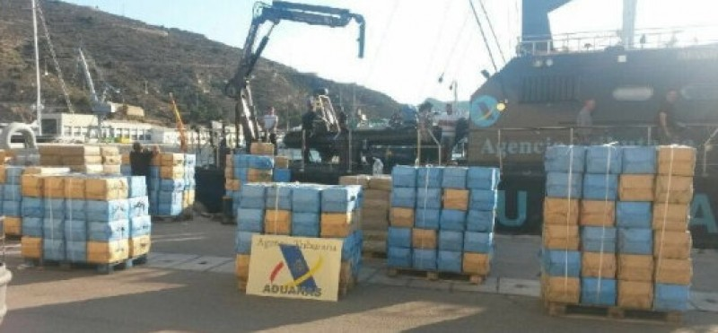<span style='color:#780948'>ARCHIVED</span> - 10 tons of hashish seized from sailing boat intercepted off Cartagena