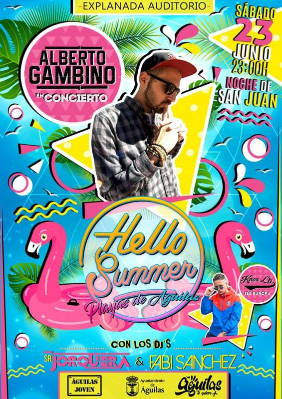 23rd June Hello Summer: free beach festival in Aguilas to welcome in the summer