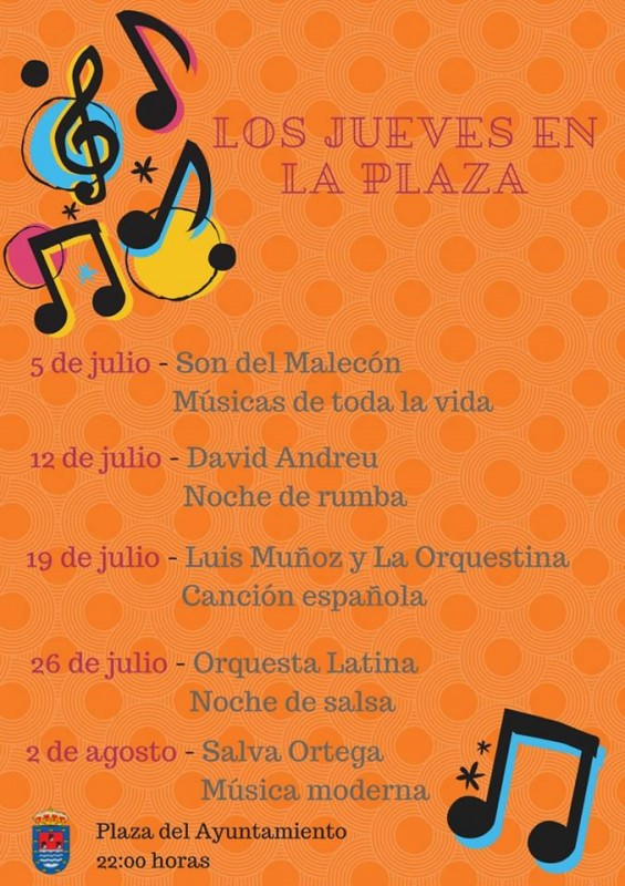 26th July Free Latin music in the Los Alcázares municipality