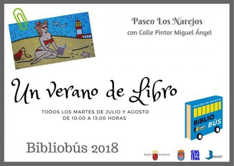 Every Tuesday in July and August; the Bibliobus is in Los Alcázares