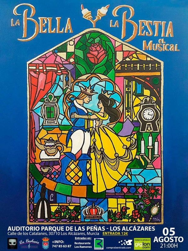 5th August Los Alcázares. The musical  Beauty and the Beast