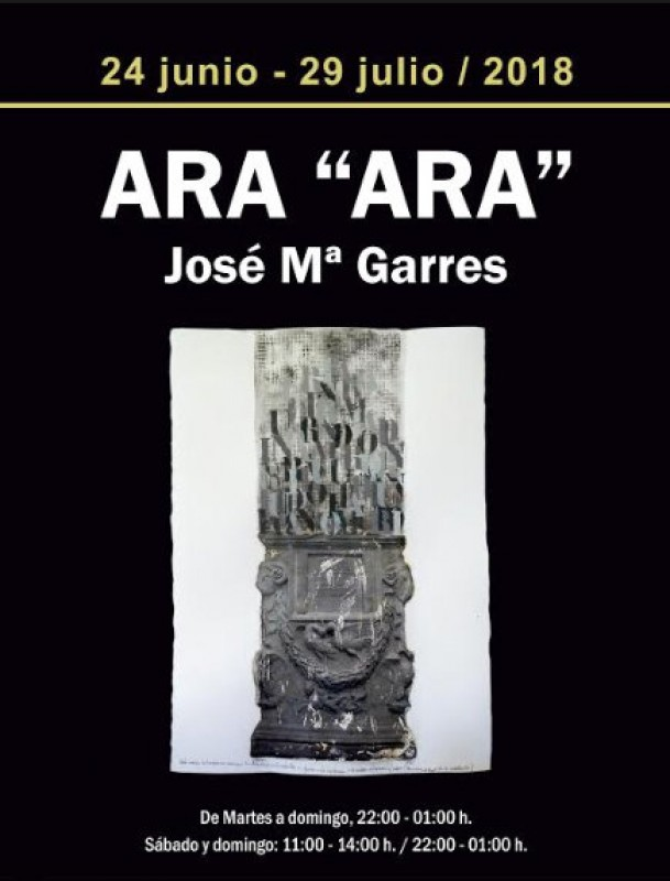Until 29th July, Ara Ara by artist José María Garres in Puerto de Mazarrón
