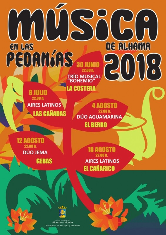 12th August free live music in Gebas, Sierra Espuña