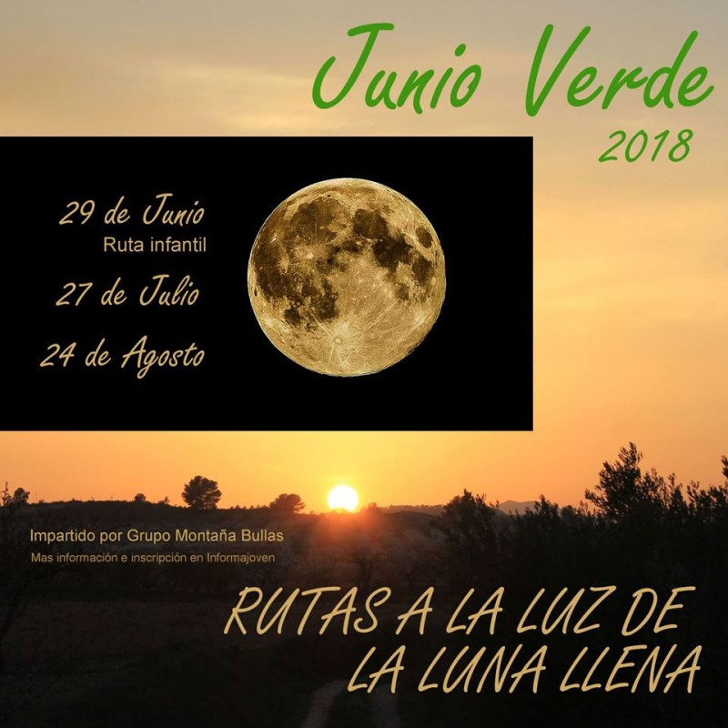 27th July Nocturnal moonlit senderismo walking route in Bullas