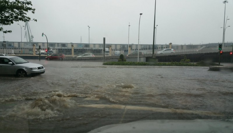 Flooding in A Coruña as heavy storms hit northern Spain