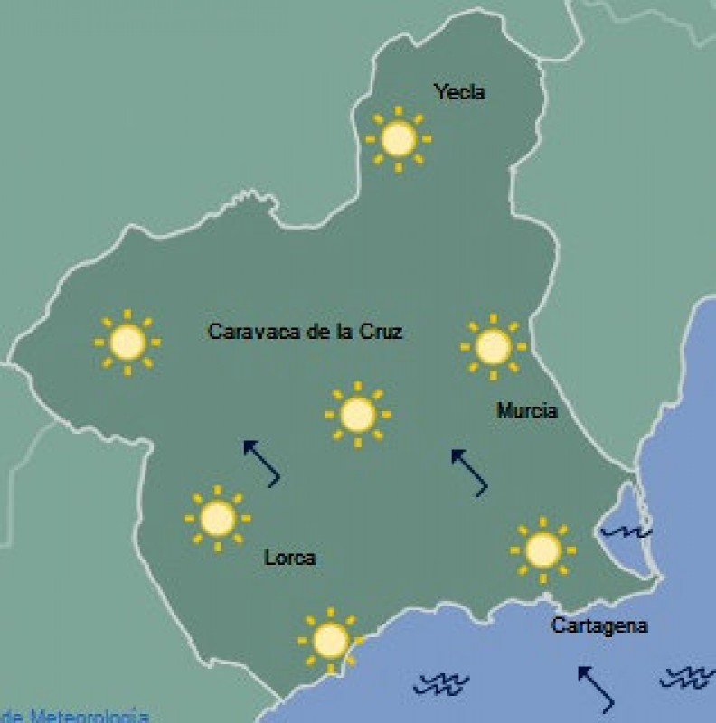 Slightly cooler in the Costa Cálida this Friday!