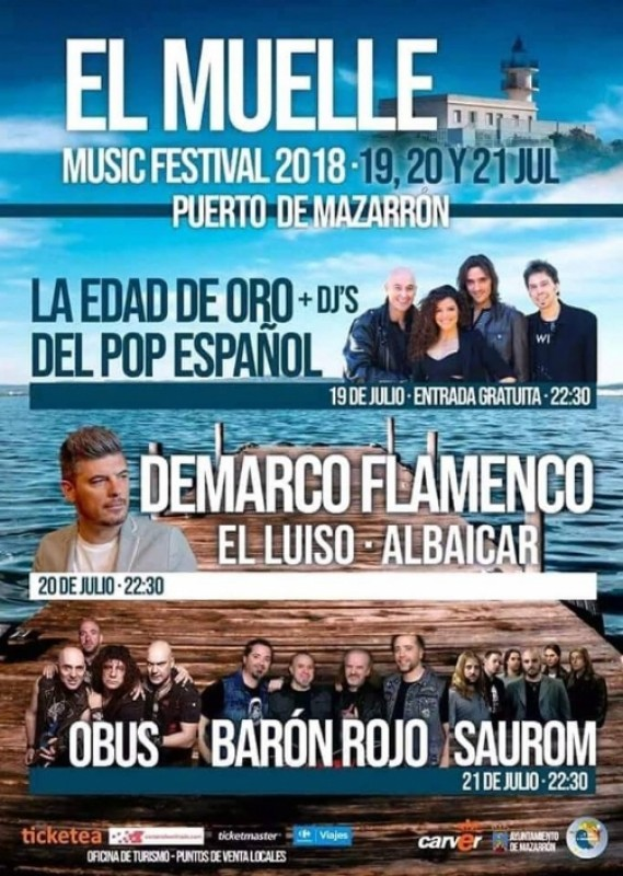 19th to 21st July El Muelle Music Festival in the Puerto de Mazarrón