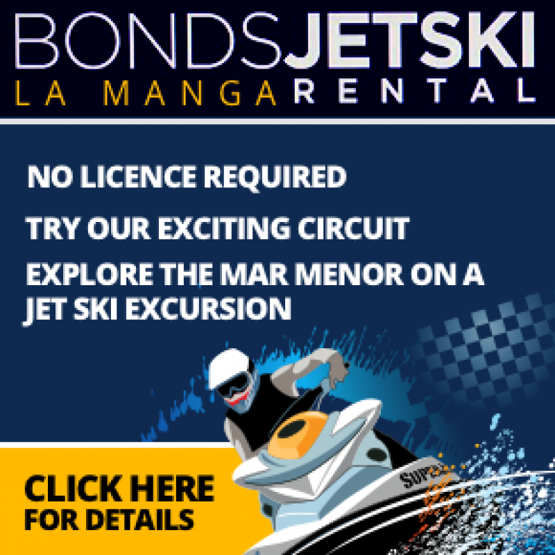 Ride a jet ski on the Mar Menor with Bonds Jet Ski Rental in La Manga