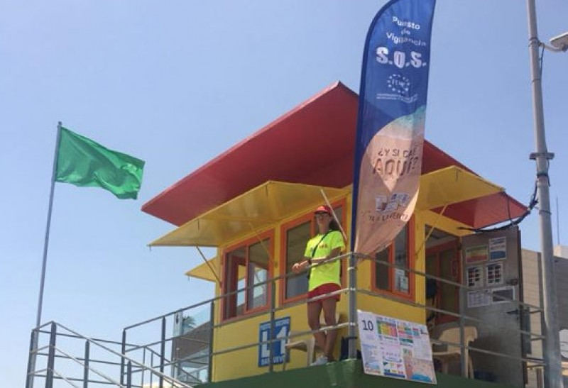 Green flags and hot sun at all Costa Cálida beaches on Wednesday