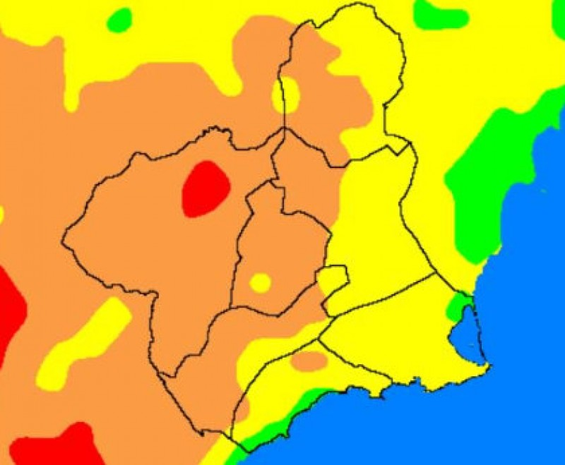 "UV factor very high and wild fire risk ""extreme"" in north-west Murcia"