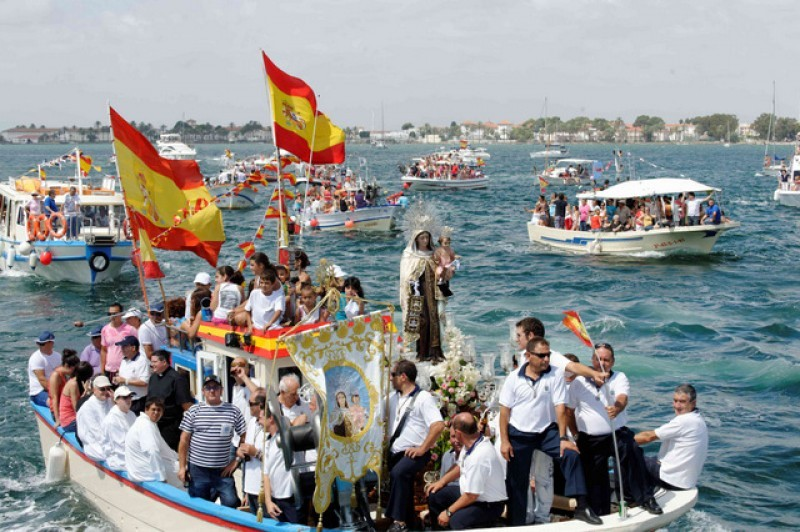 15th and 16th July, fiestas and marine procession of the Virgen del Carmen in San Pedro del Pinatar