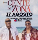 17th August, Cuban latino music with Gente de Zona in La Manga del Mar Menor
