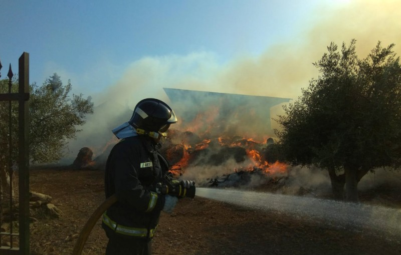 Fire scare in the countryside just outside Lorca