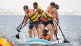 Premiership footballers enjoy water sports in the Mar Menor