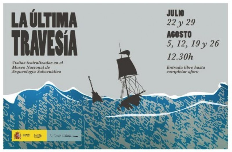Free guided theatrical Sunday visits to the ARQUA sub-aquatic archaeology museum