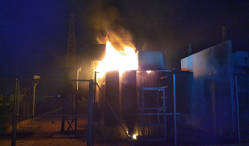 <span style='color:#780948'>ARCHIVED</span> - Transformer fire puts San Pedro del Pinatar desalination plants out of action