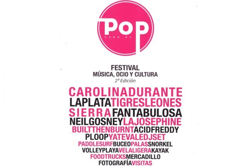17th and 18th August, music and much more at the Cabo de Pop festival in Cabo de Palos