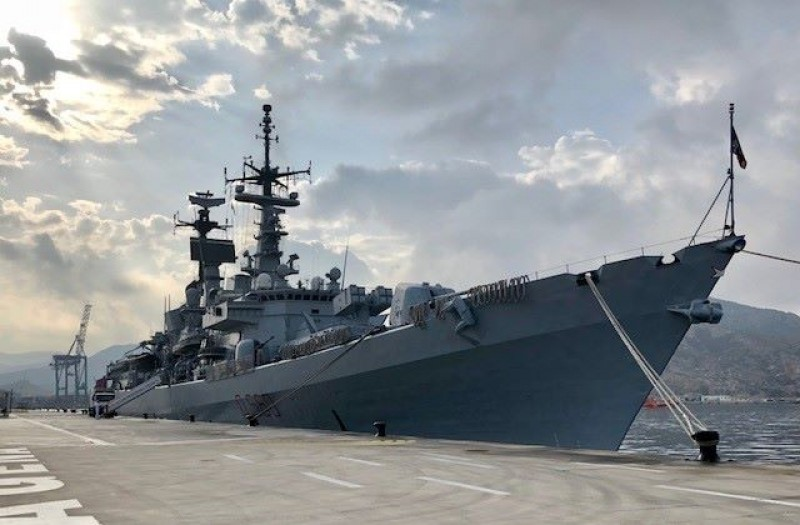 Italian Naval Destroyer open for visits in Cartagena
