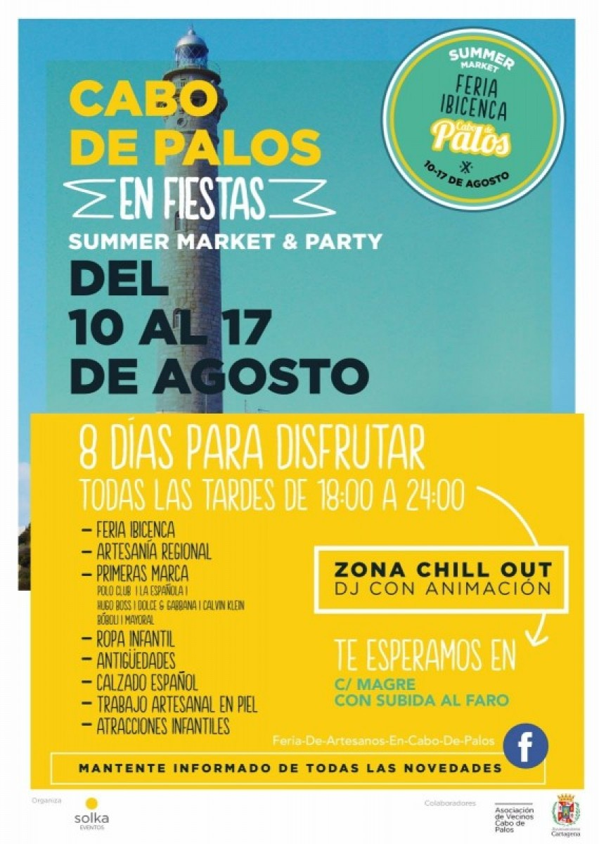 10th to 17th August Cabo de Palos Summer Market and Party