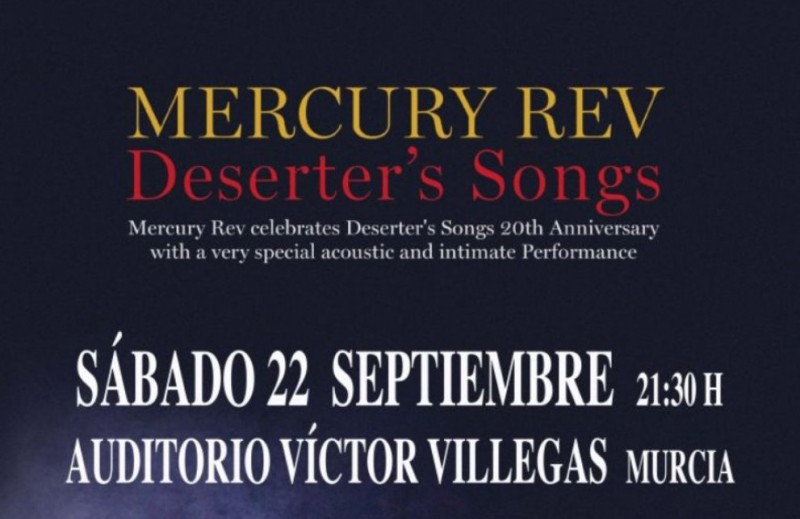 22nd September, Mercury Rev live in concert at the Auditorio Víctor Villegas in Murcia