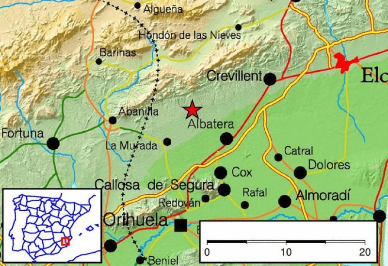 <span style='color:#780948'>ARCHIVED</span> - Albatera earthquake measuring 4.3 felt in central and eastern Murcia