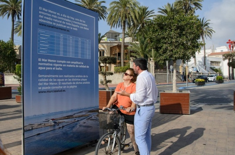 <span style='color:#780948'>ARCHIVED</span> - Information panels report latest water quality data in the Mar Menor