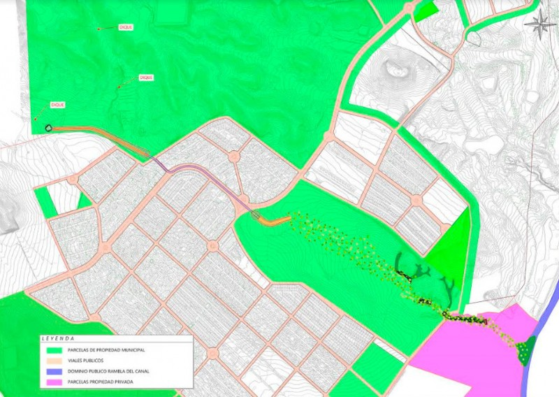 Proposal to re-direct Camposol rambla accepted by the CHS and Mazarrón council