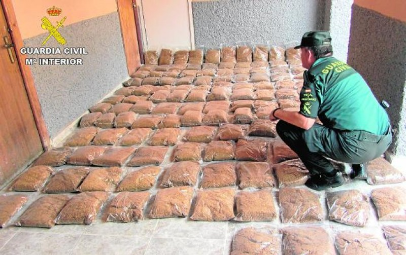 <span style='color:#780948'>ARCHIVED</span> - 200 kilos of contraband tobacco confiscated in south-west Murcia