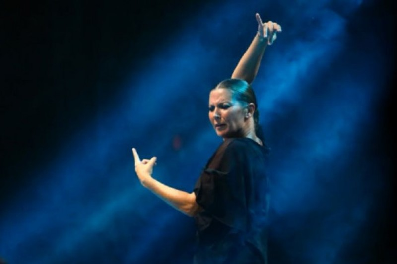 9th February 2019 flamenco dancer Sara Baras at the Auditorio Víctor Villegas in Murcia