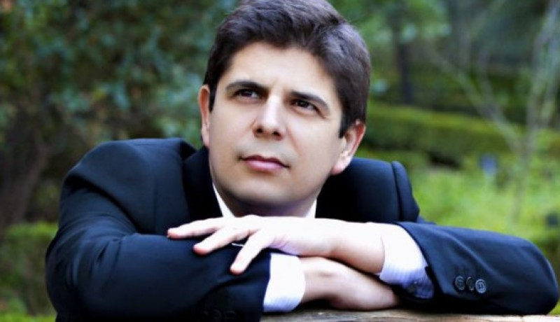 24th May 2019 pianist Javier Perianes with the OSRM at the Auditorio Víctor Villegas in Murcia