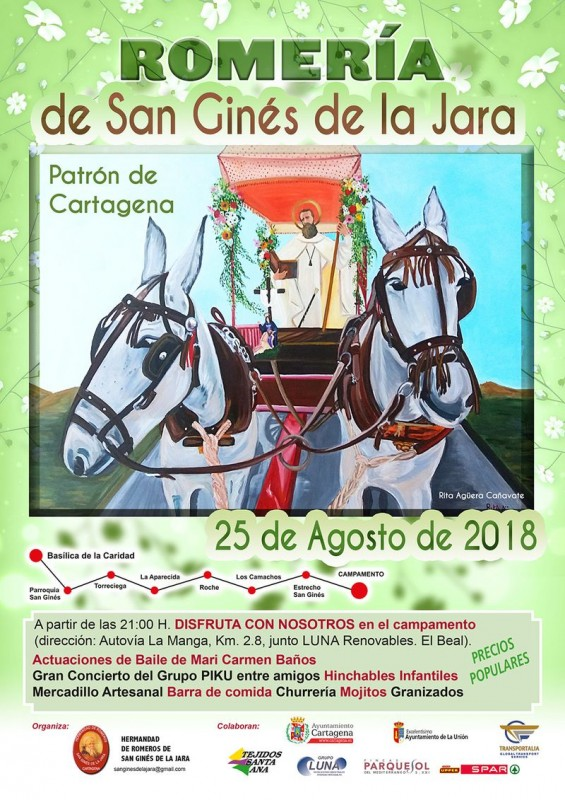 <span style='color:#780948'>ARCHIVED</span> - Saturday 25th August the Romería of San Ginés in Cartagena