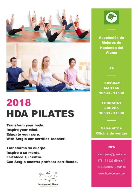 Tuesday and Thursday Pilates on Hacienda del Álamo