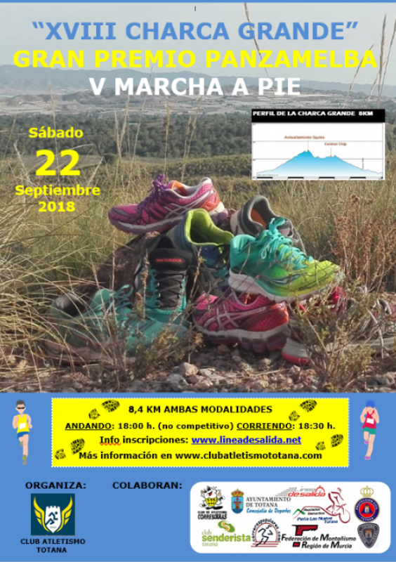 22nd September; 8.4km running race or non-competitive walk, Totana